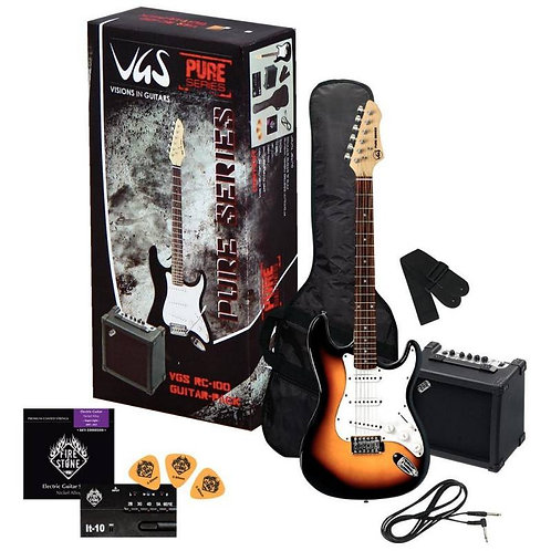 Guitare électrique VGS Pack Guitare RC-100 Sunburs