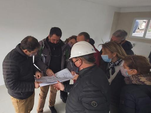 Avances en la obra de Km3 y visita del Intendente Juan Pablo Luque