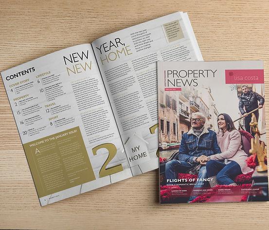 Example of mpnthly property lifestyle magazine