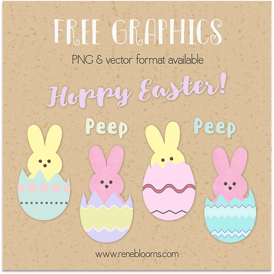 Scrapbook easter eggs from Rene Blooms