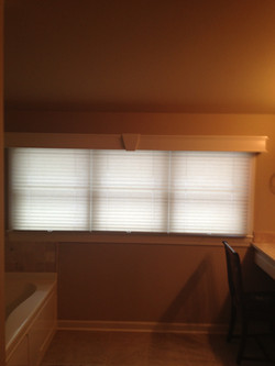 pleated shades 3 on 1 with cornice