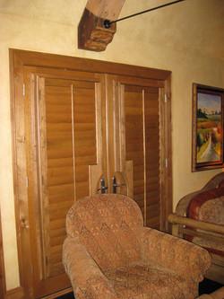 wood with door cutout