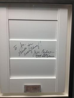 Jill Biden has wood shutters!
