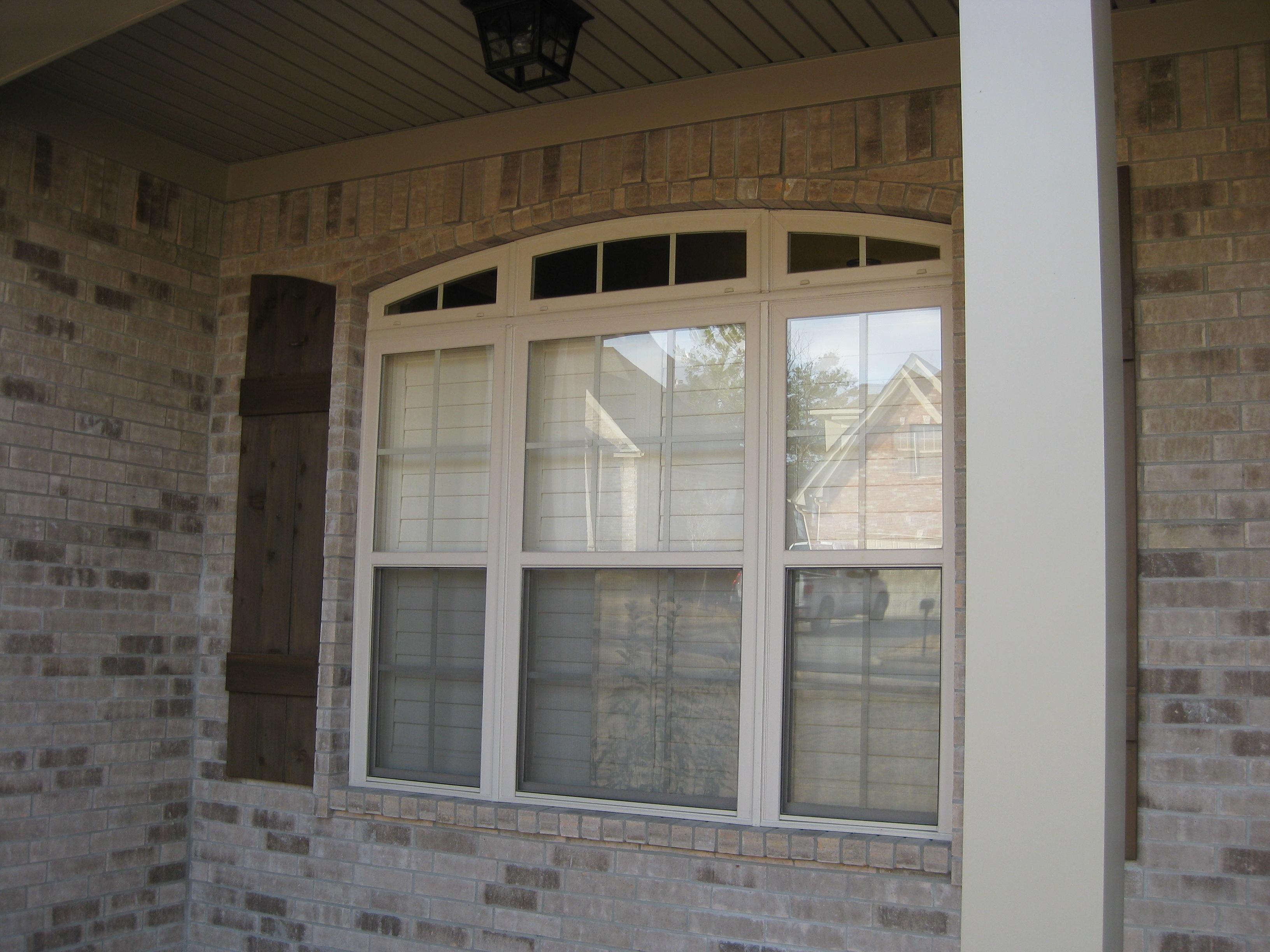 vinyl shutters exterior view