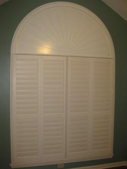 "interior 3 1/2"" vinyl with wood arch"