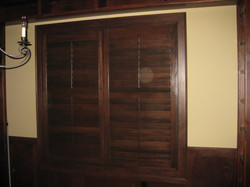 """3 1/2"""" wood stained"""