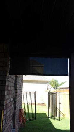 exterior solar shade on patio