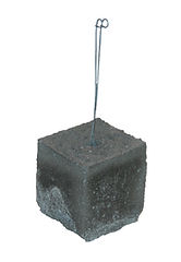 RW Foster Concrete Products – 4 Inch Concrete Dobie, Rebar Support Block, Wire Dobie Concrete Brick