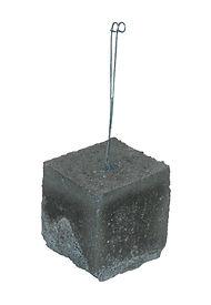 "4"" x 4"" x 4"" Concrete Dobie, Dobie Block, Rebar Spacer Block, RW Foster Concrete Products, LLC."