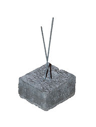"1"" x 2 "" x 2"" Concrete Dobie, Dobie Block, Rebar Spacer Block, RW Foster Concrete Products, LLC."