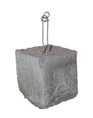 "3"" x 3"" x 3"" Concrete Dobie, Dobie Block, Rebar Spacer Block, RW Foster Concrete Products, LLC."