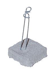"3/4"" x 2"" x 2"" Concrete Dobie, Dobie Block, Rebar Spacer Block, RW Foster Concrete Products, LLC."