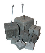 RW Foster Concrete Products - Concrete Dobie, Rebar Support Block, Wire Dobie Concrete Brick