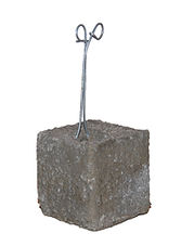 RW Foster Concrete Products - 2 Inch Concrete Dobie, Rebar Support Block, Wire Dobie Concrete Brick