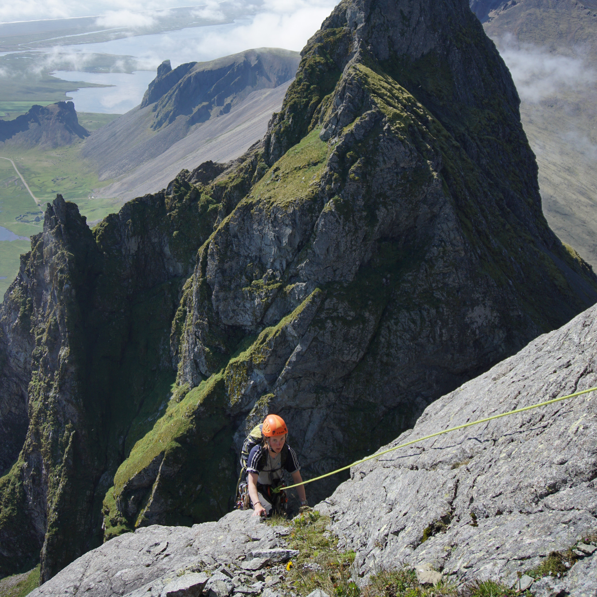 Rock climing Vestrahorn