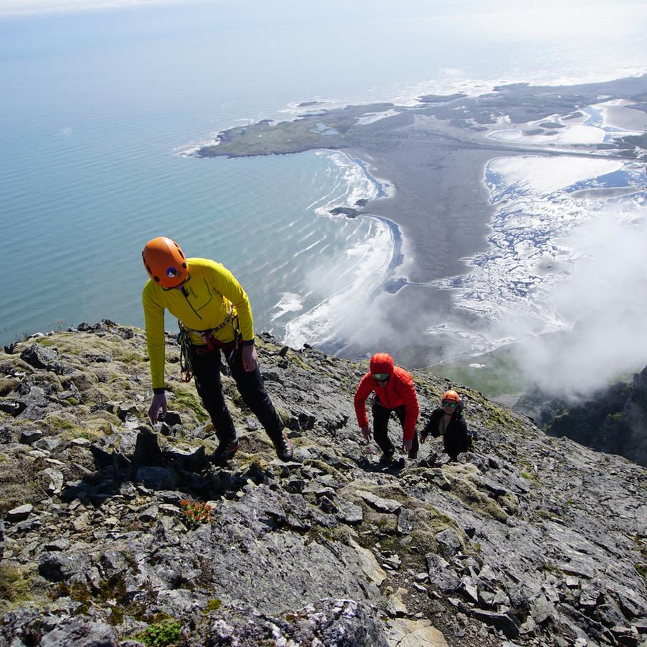 Climbing Vestrahorn