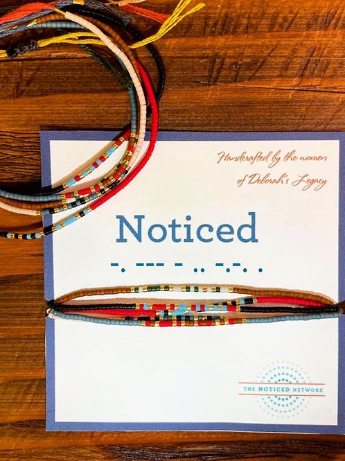 Morse Code Bracelets      (set of 5)
