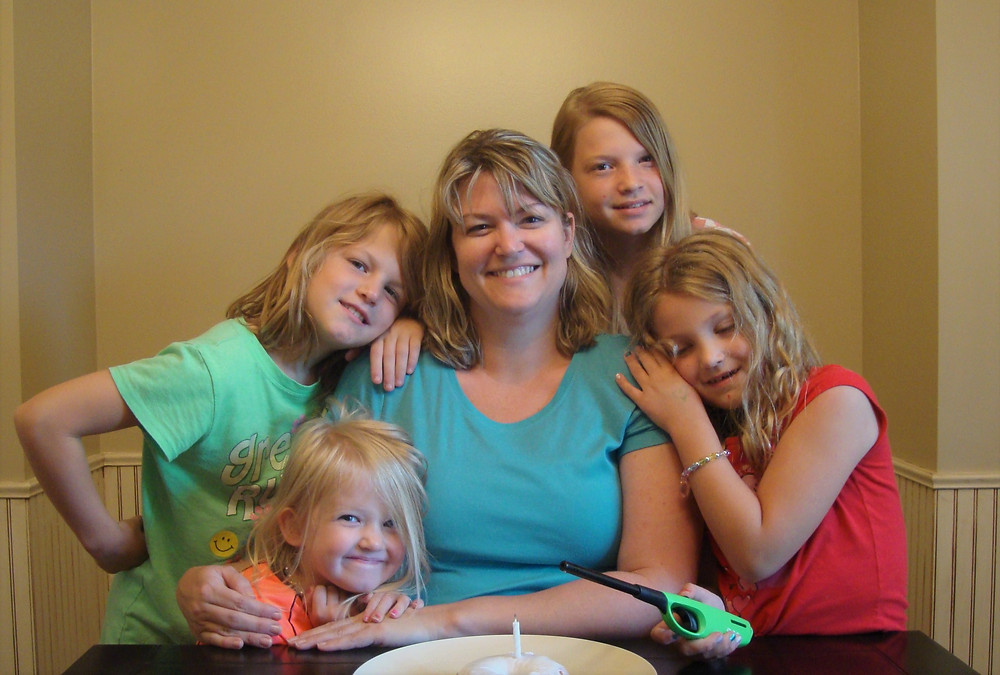 I love this sweet picture of my girls and I so much!  It was taken on the morning of my birthday, June 16th, 2011.  10 years ago - look at those babies! -- and their sweet mama who had no idea of the awesomeness yet to come!