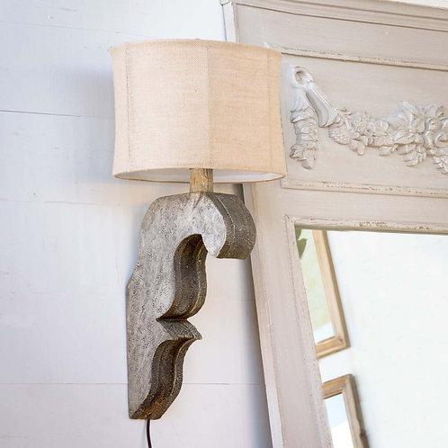 Antique Grey Corbel Lamp