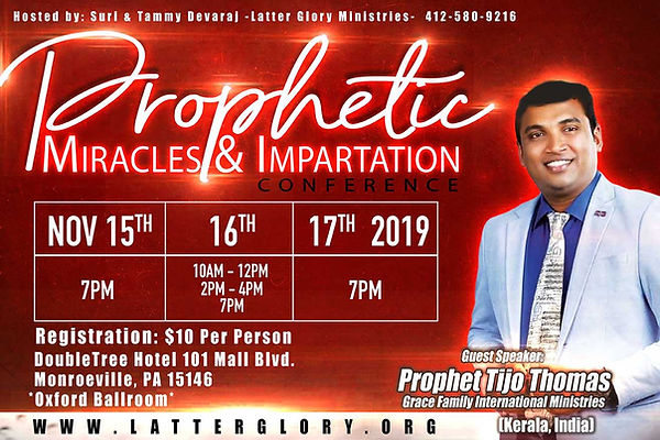 Prophetic Miracles & Impartation Confere
