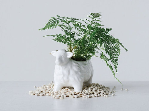 Terra Cotta Sheep Planter