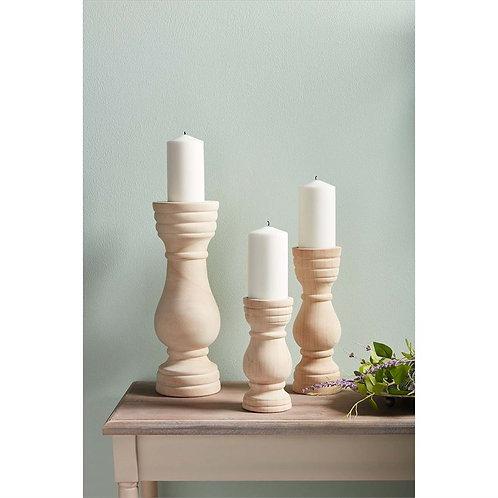 Natural Wood Candlesticks
