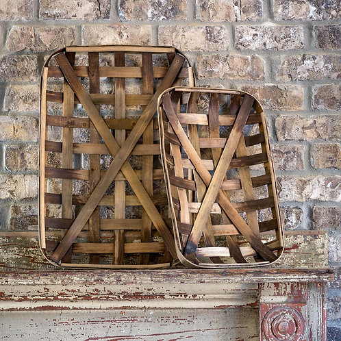 Tobacco Baskets, Set of 2