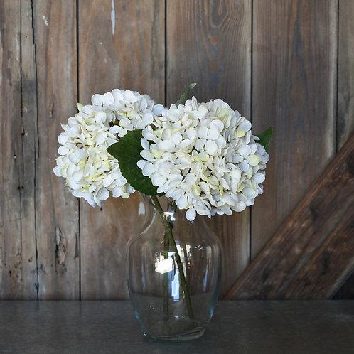 Faux Hydrangea Stem - Cream