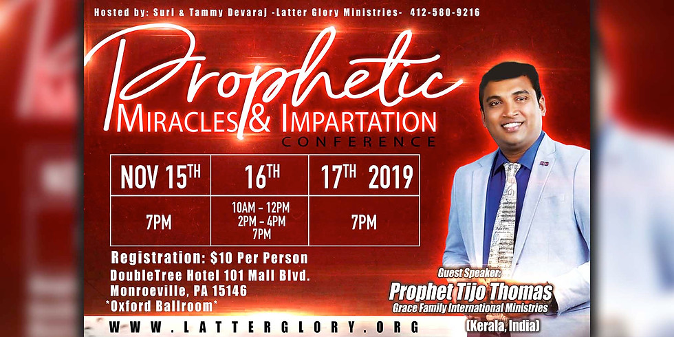 Prophetic Miracles & Impartation Conference