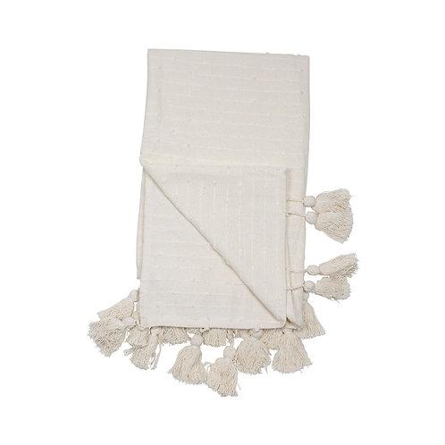 Simple Textured Tassel Throw