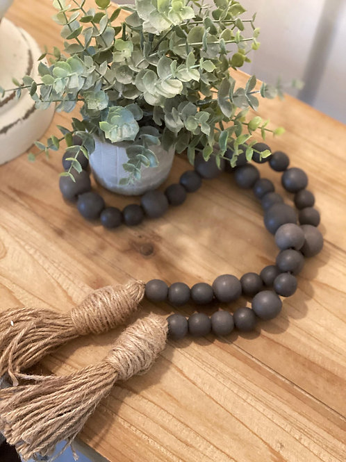 Dark Grey Modern Farmhouse Beads