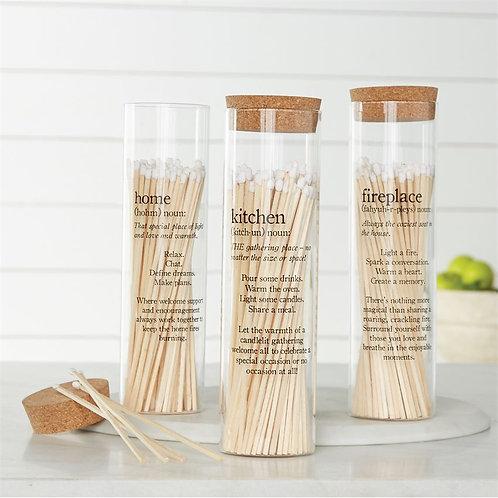 Tall Matchsticks  Glass bottle