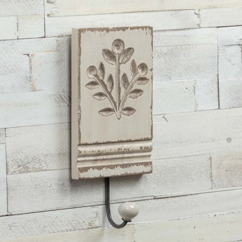 Leaf Print Architectural Wood Hook