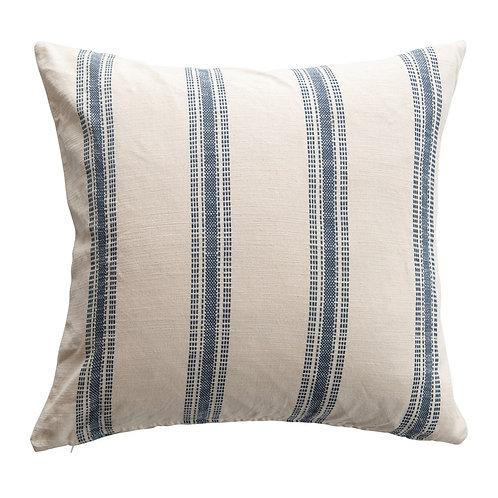 """Woven Cotton Stripe Pillow 24"""""""