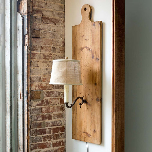 Wooden Cutting Board Sconce