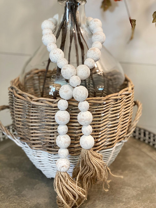 White Farmhouse Beads