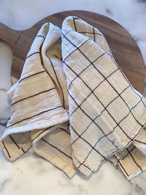 Woven Cotton Kitchen Hand Towel Set of 2