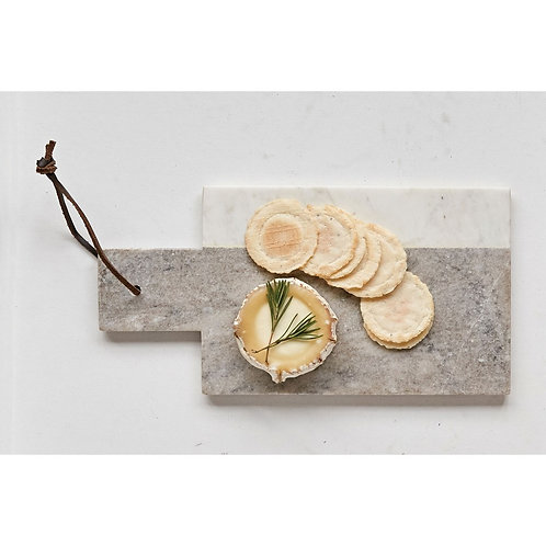 Grey/White Marble Cheese Board