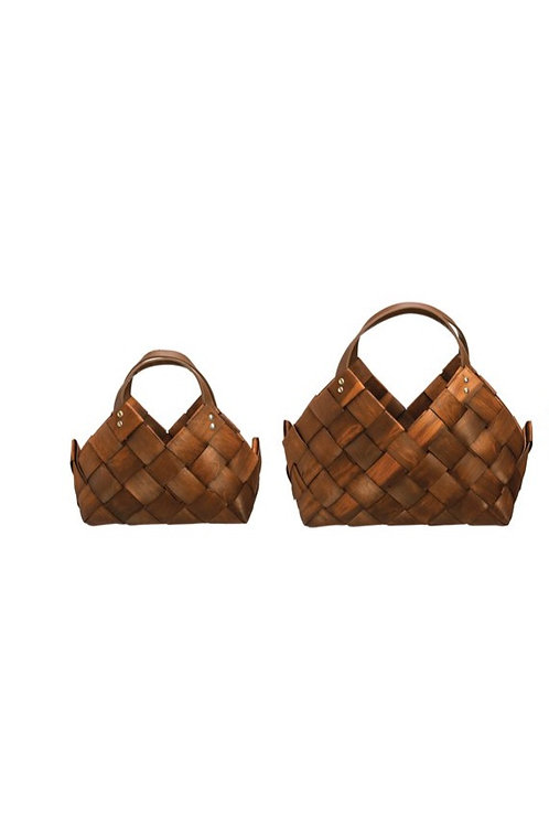 Seagrass Baskets w/ Leather Handles