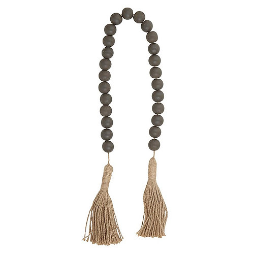 Dark Charcoal with Jute Beads