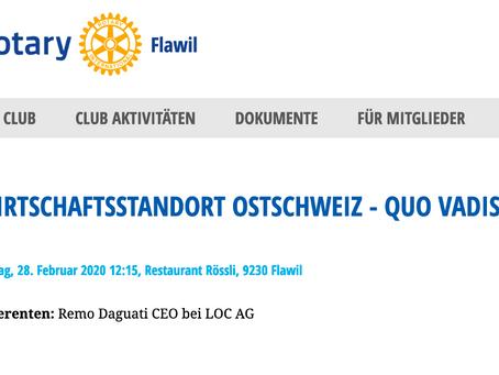 Wirtschaftsstandort Ostschweiz - Quo vadis?