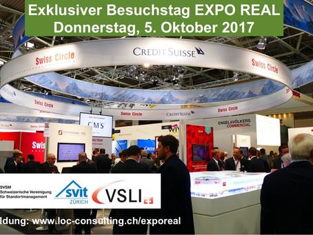 Exklusiver Besuch der EXPO REAL München vom 5. Oktober 2017
