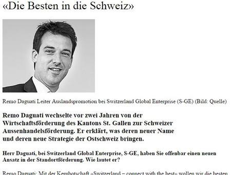 «Die Besten in die Schweiz»