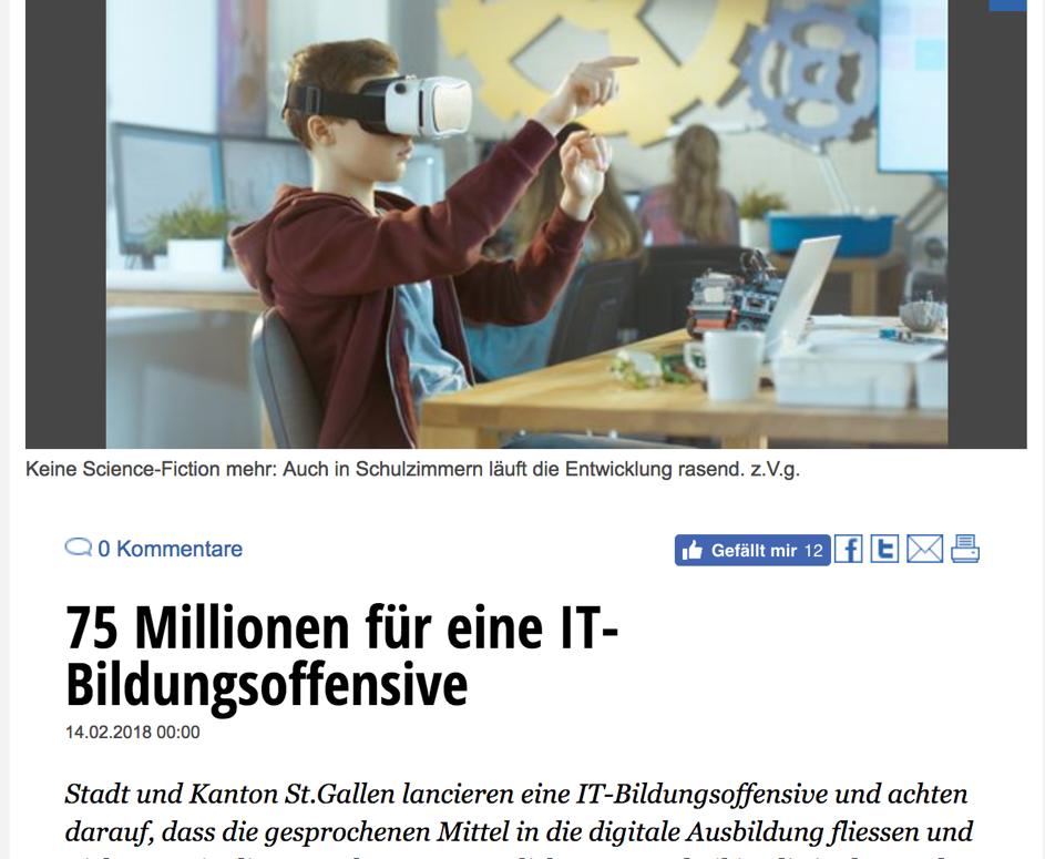 IT Bildungsoffensive für 75 Millionen