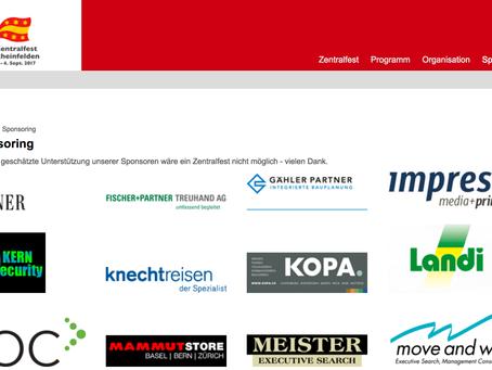 LOC als Sponsoring Partner beim Zentralfest Rheinfelden