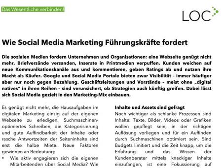 Wie Social Media Marketing Führungskräfte fordert