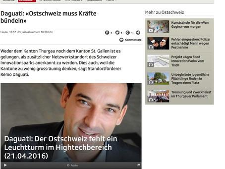 Radio DRS, Regionaljournal Ostschweiz: «Ostschweiz muss Kräfte bündeln»