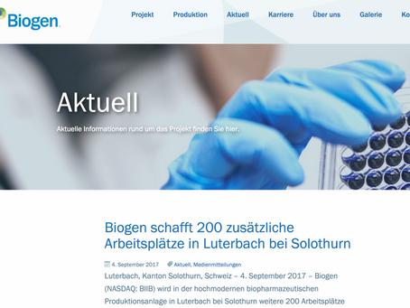Biogen steigert neu geschaffene Arbeitsplätze auf 600