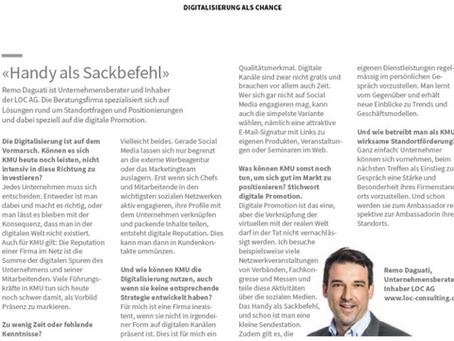"""LOC AG mit Gastbeitrag im Kundenmagazin""""MeineFirma"""" der AXA"""