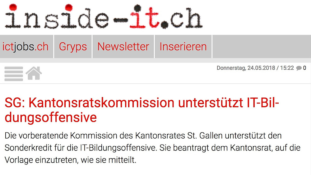 IT Bildungsoffensive inside-it.ch